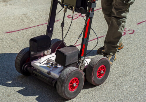 """The GPR is a noninvasive method used in geophysics. It is based on the analysis of electromagnetic waves transmitted into the ground reflections.""""nIt is also used for the detection of underground pipes in the city streets before starting excavations."""